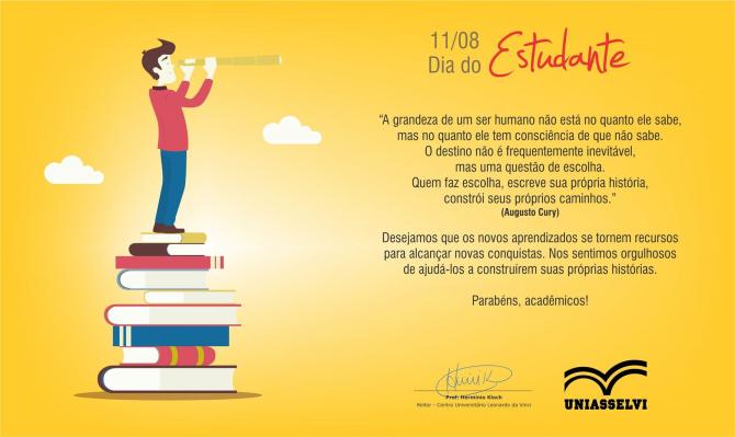 NEAD: Mensagem Do Reitor Pelo Dia Do Estudante(11